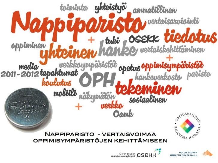 Nappiparit 2012-2013                  ja paristosta lisävoimaaYhteistyösopimuksen allekirjoittaneet kumppanit ja erityiset...