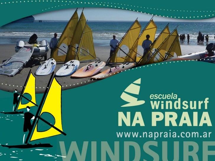 Na praia escuela de windsurf