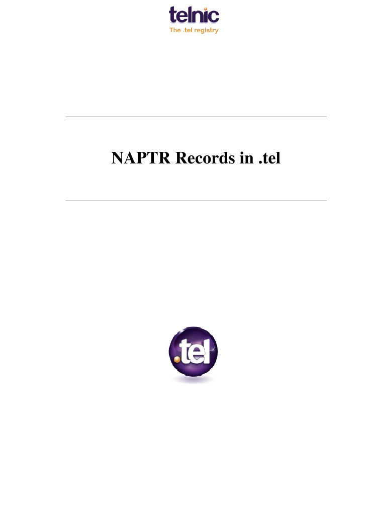 NAPTR Records in .tel