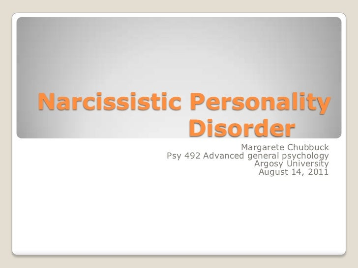 Narcissistic Personality Disorder Ppt