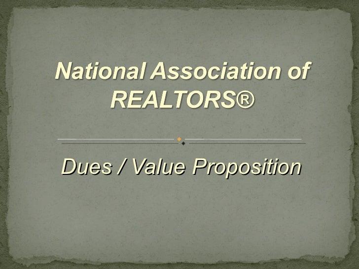 Dues / Value Proposition