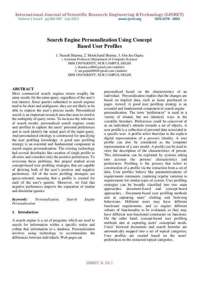 International Journal of Scientific Research Engineering &Technology (IJSRET) Volume 1 Issue4 pp 084-087 July 2012 www.ijs...