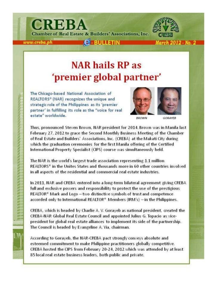 NAR hails Philippines as Premier Global Partner