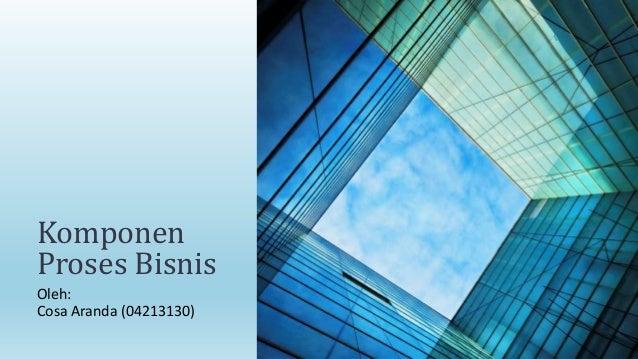 Komponen Proses Bisnis Oleh: Cosa Aranda (04213130)