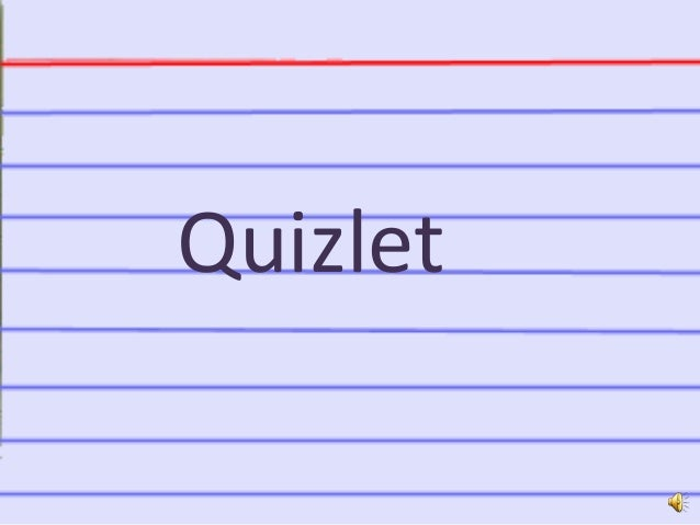 Narrated Quizlet PowerPoint presentation