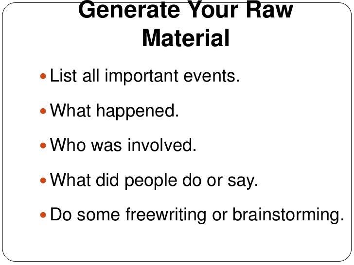 Writing a personal narrative essay? ?