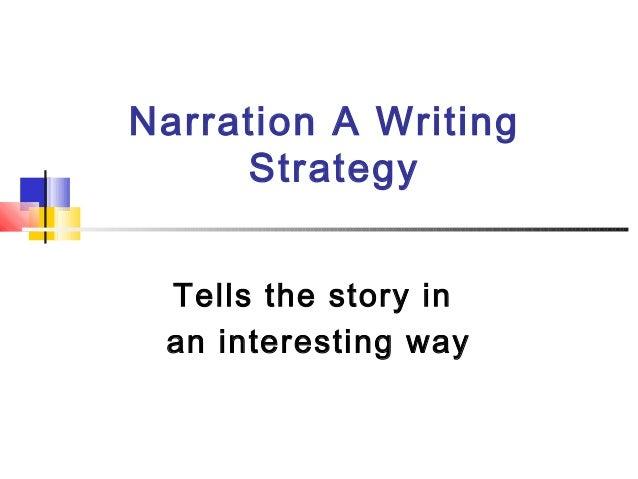Narration A WritingStrategyTells the story inan interesting way