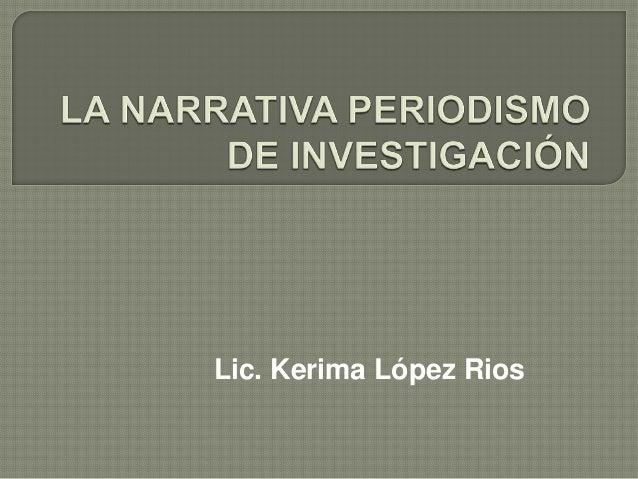 Lic. Kerima López Rios