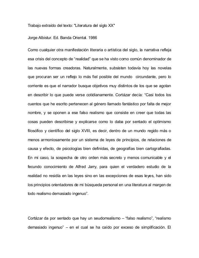 """Trabajo extraído del texto: """"Literatura del siglo XX"""" Jorge Albistur. Ed. Banda Oriental. 1986 Como cualquier otra manifes..."""