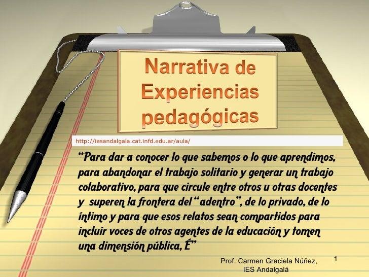 Narrativas pedagógicas