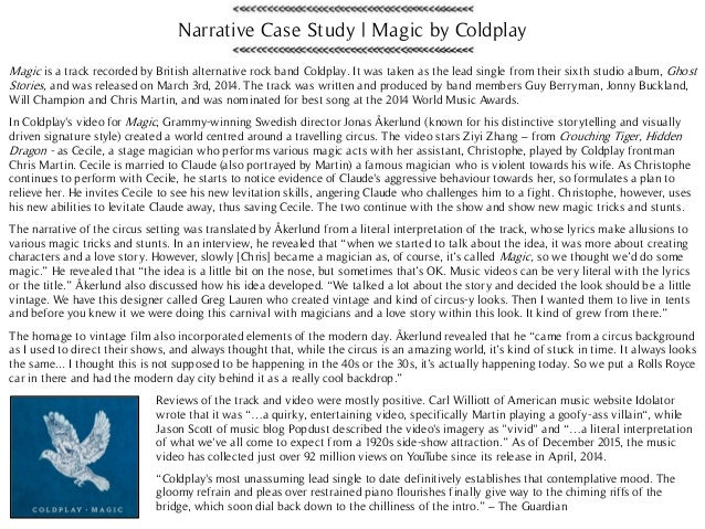 Case study paper in narrative form