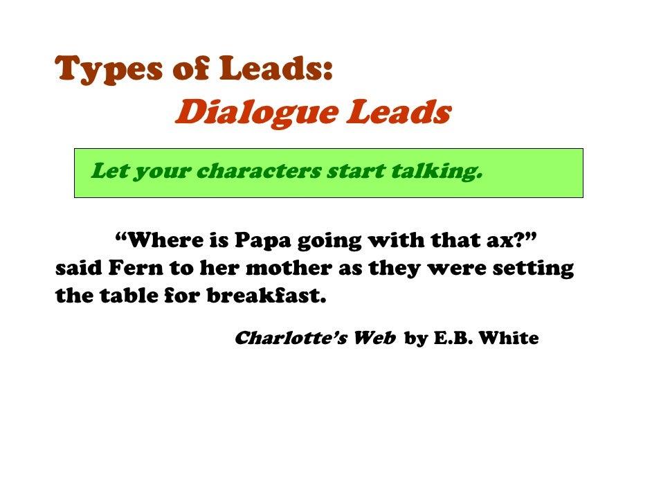 descriptive essay leads