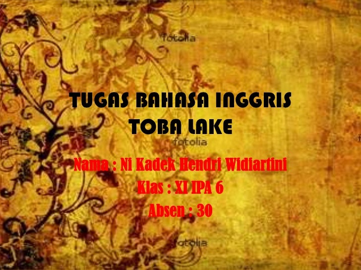 Narrative about  toba lake by endri