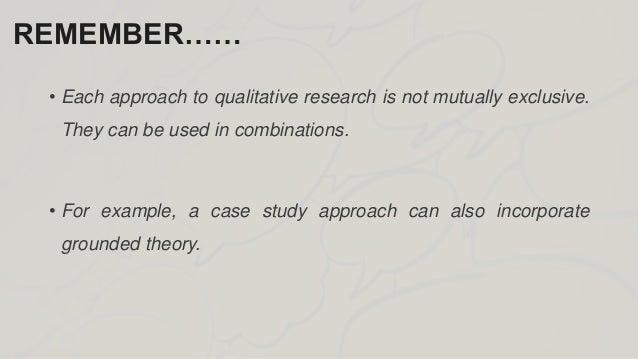 Write my qualitative paper example