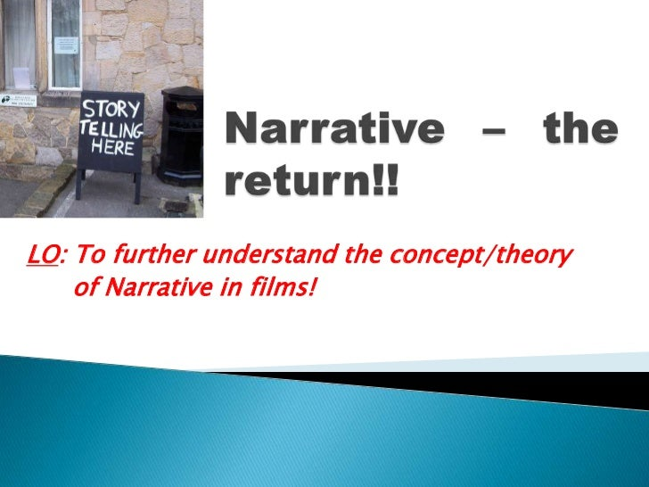 Narrative – the return!!<br />LO: To further understand the concept/theory <br />      of Narrative in films!<br />