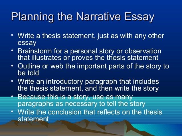 Narrative Essay Thesis Examples 27.05.2017