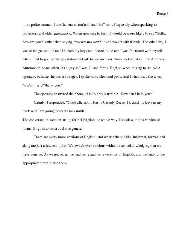 Thank you ma am essay