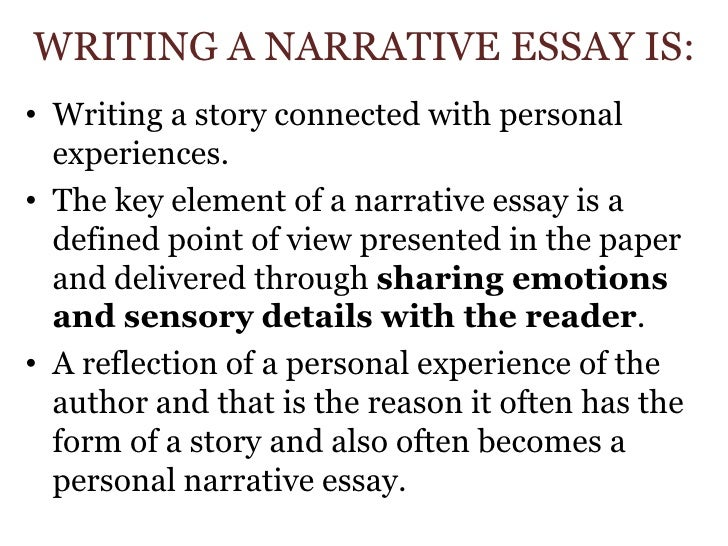 Help writing narrative paper