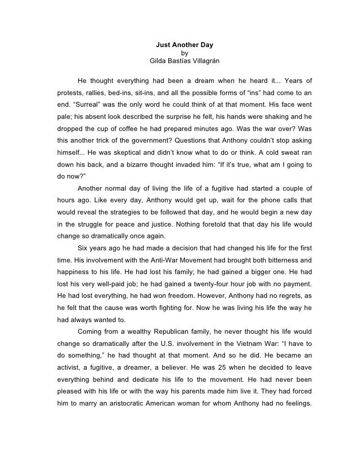 Writing A Narrative Essay Examples