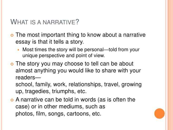 What is an narrative essay