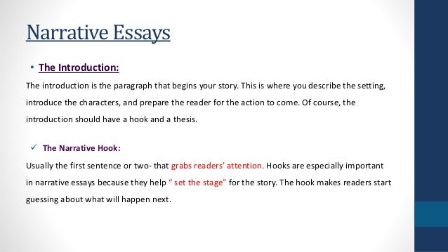 How to write a narrative introduction