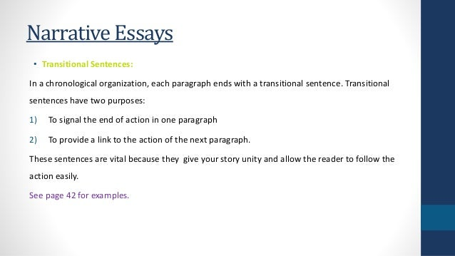 element of narrative essay Elements of a personal narrative the more of each element a narrative essay addresses, the more likely that narrative essay will be.