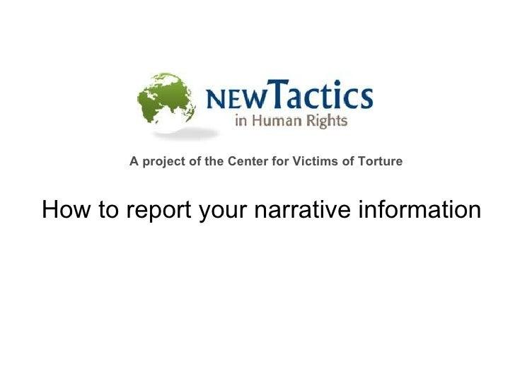 Narrative Info For Web