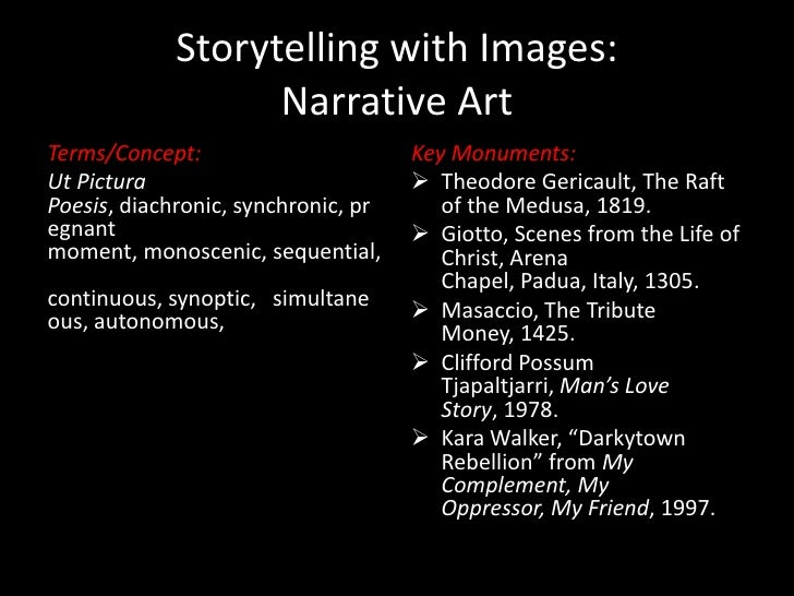 Storytelling with Images:                   Narrative ArtTerms/Concept:                       Key Monuments:Ut Pictura    ...