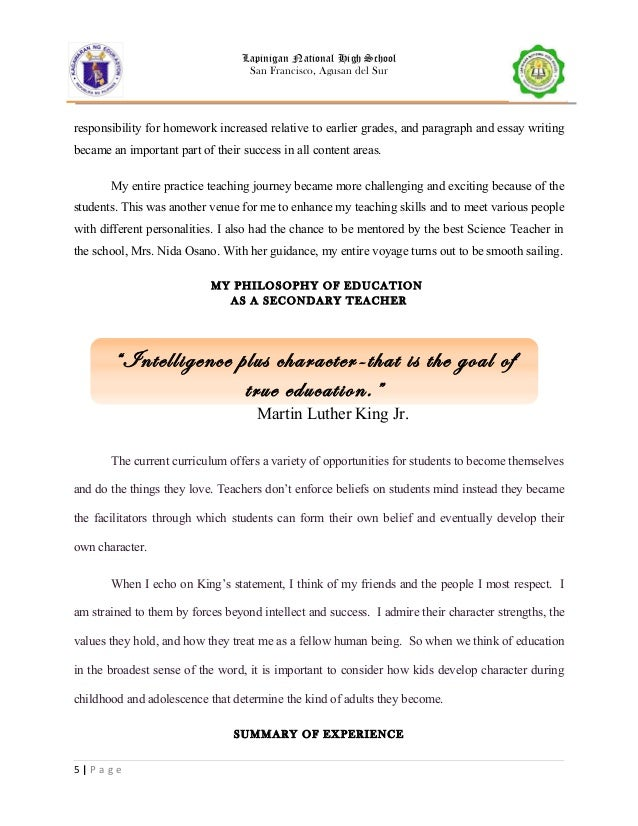 sample of narrative report for high school students narrative on - Narrative Example Essay