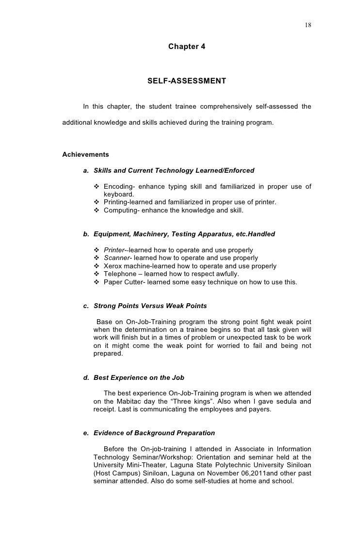 narrative resume samples narrative resume best template sample resume sample resume ojt narrative report danna sample resume