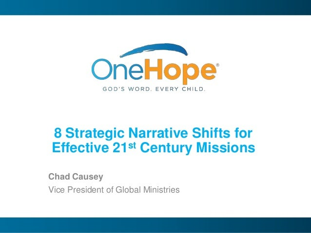8 Narrative Shifts for 21st Century Missions