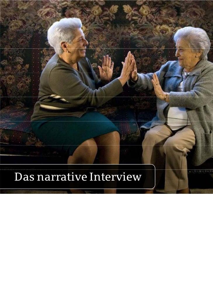 Das narrative Interview