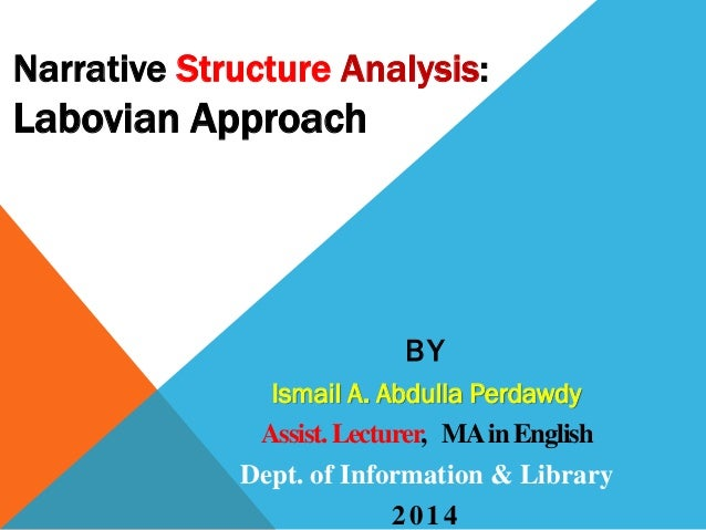 Narrative structure analysis  labov's approach