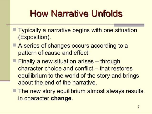 an analysis of narrative and narration in films A guide to narratological film analysis poems, plays, and prose: in a homodiegetic narrative, the story is told by a (homodiegetic.