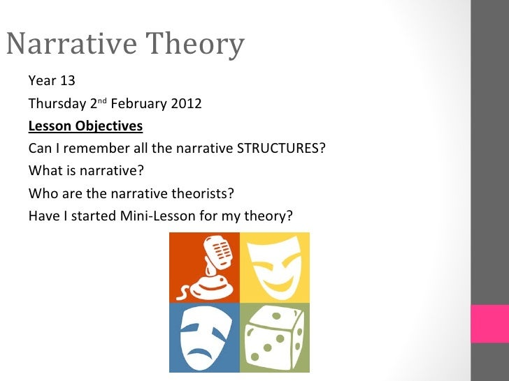 Narrative Theory Year 13 Thursday 2nd February 2012 Lesson Objectives Can I remember all the narrative STRUCTURES? What is...