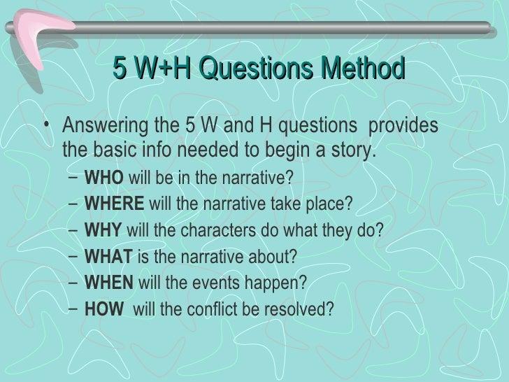 Method for writing a narrative essay