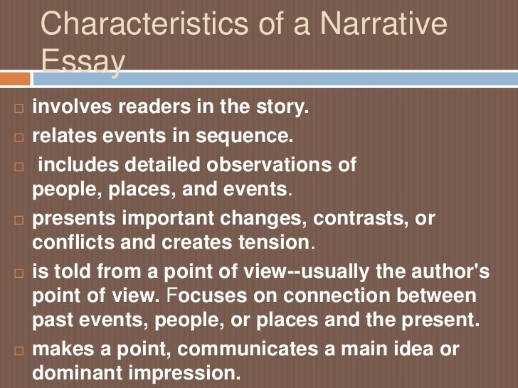 What is a background for a narrative essay?