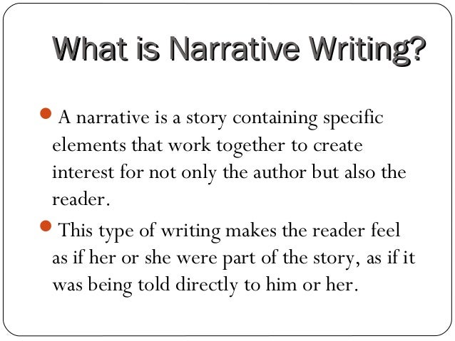 How write a narrative