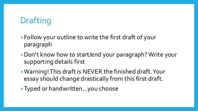 how to write a draft paper This video series teaches kids to write a research paper or report each video leads children through each step of the writing process in this video, i discuss how use your plan to write a draft.