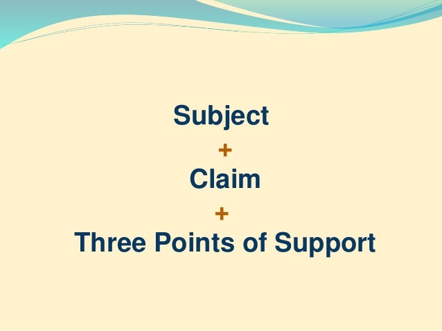 Components of a thesis statement