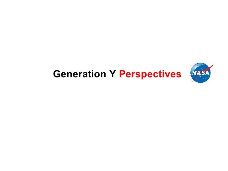 NASA - GenY Perspectives