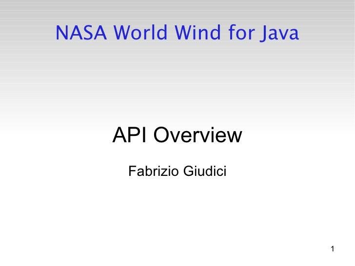 Nasa World Wind For Java (by Fabrizio Giudici)