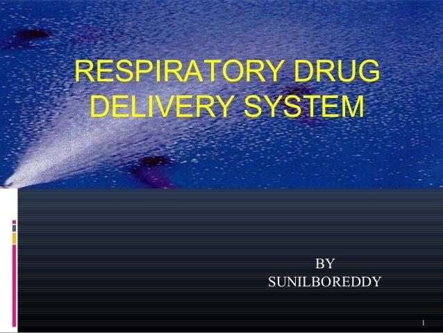 Nasal drug delivery system