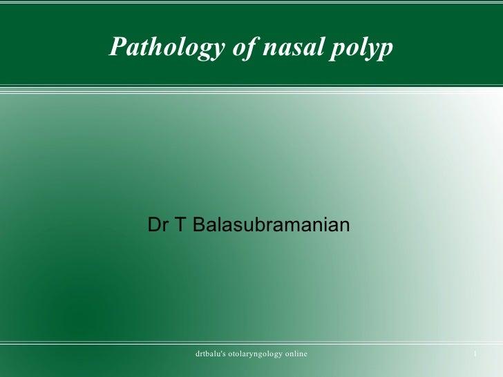 Nasalpolyp pathology