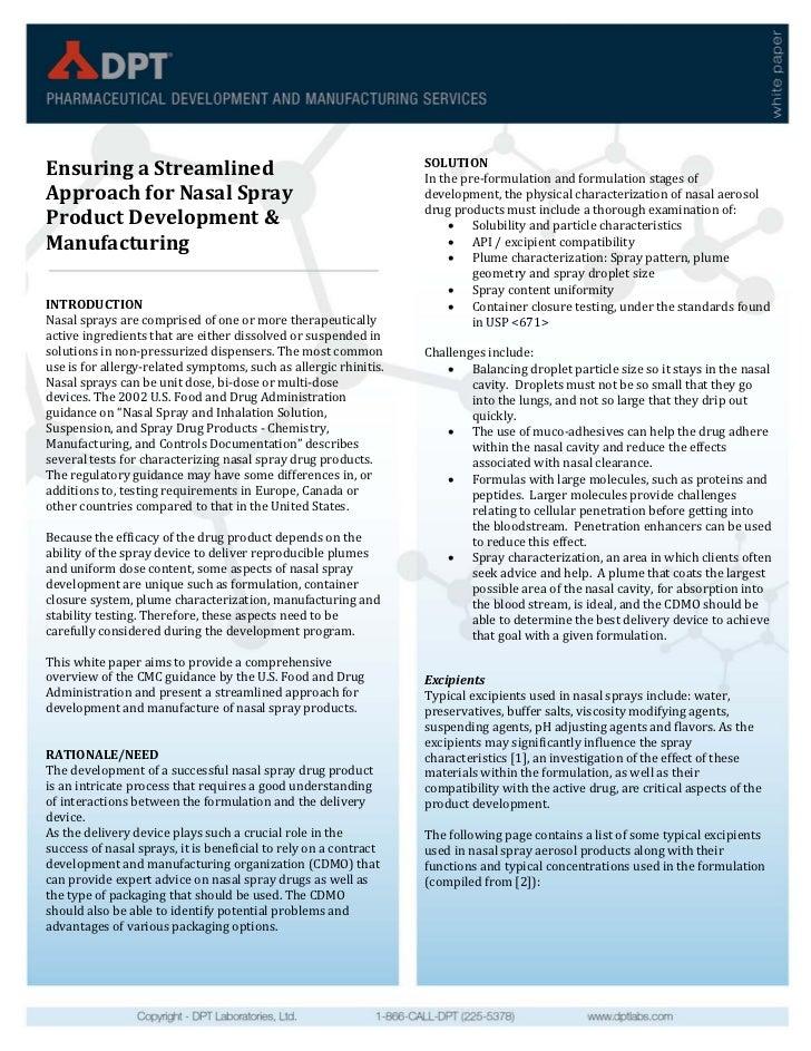 SOLUTIONEnsuringaStreamlined                                            Inthepre‐formulationandformulationstageso...