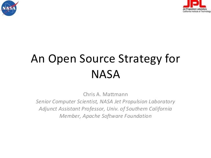 An Open Source Strategy for NASA