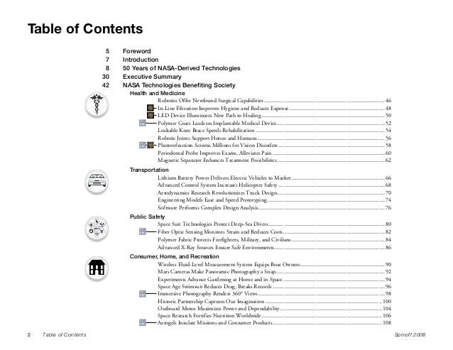 50 essays table of contents