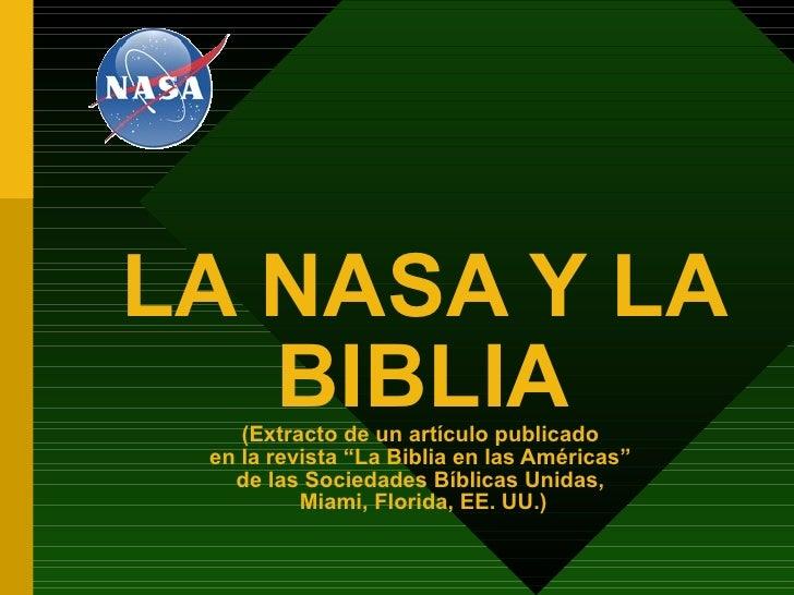Nasa y la_biblia