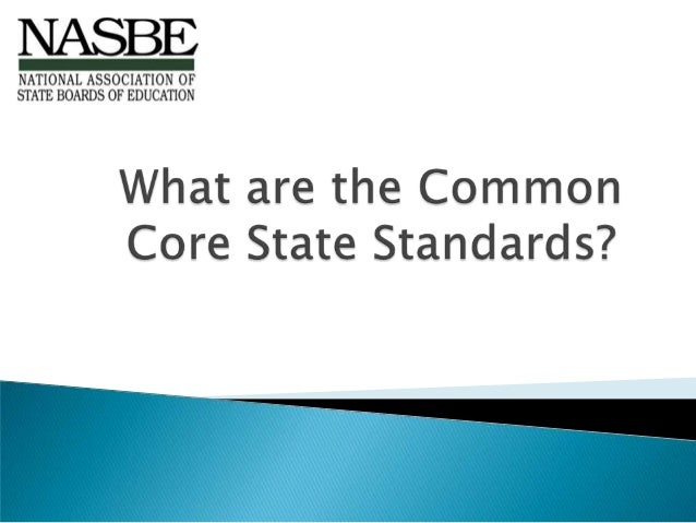Nasbe ccss example presentation 07 version