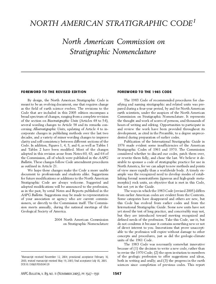 NORTH AMERICAN STRATIGRAPHIC CODE1                                     North American Commission on                       ...
